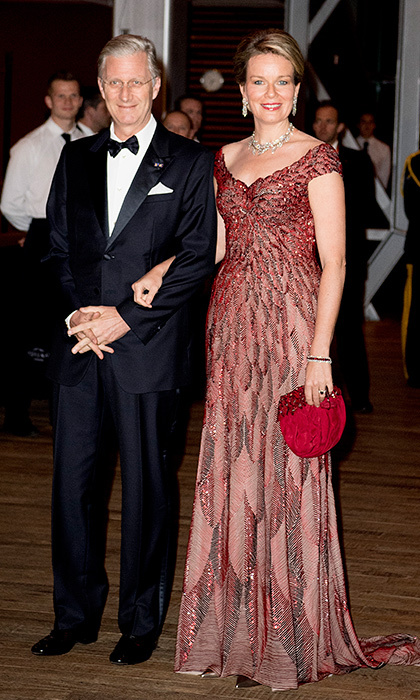 The Belgian monarchs made a dapper pair at a concert offered by King Philippe in the Muziekgebouw Aan't IJ Amsterdam.