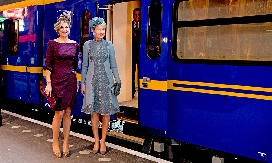 All aboard! Maxima and Mathilde visited the new Utrecht Central station and hopped on the Dutch Royal Train in Utrecht, Netherlands.