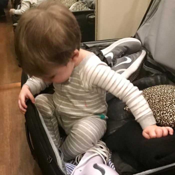 "Carrie Underwood's son Isaiah Fisher snuck into his famous mom's suitcase before her big trip to New Zealand! The country star posted a photo from the adorable moment writing, ""So, I may or may not have smuggled the kiddo into New Zealand with me.......ok, I didn't, but maybe I should have because I'm already missing him like crazy! But, I know he's being spoiled right now by his daddy and Nana and Papa. What on earth am I going to do without him for all this time?!?!?!""
