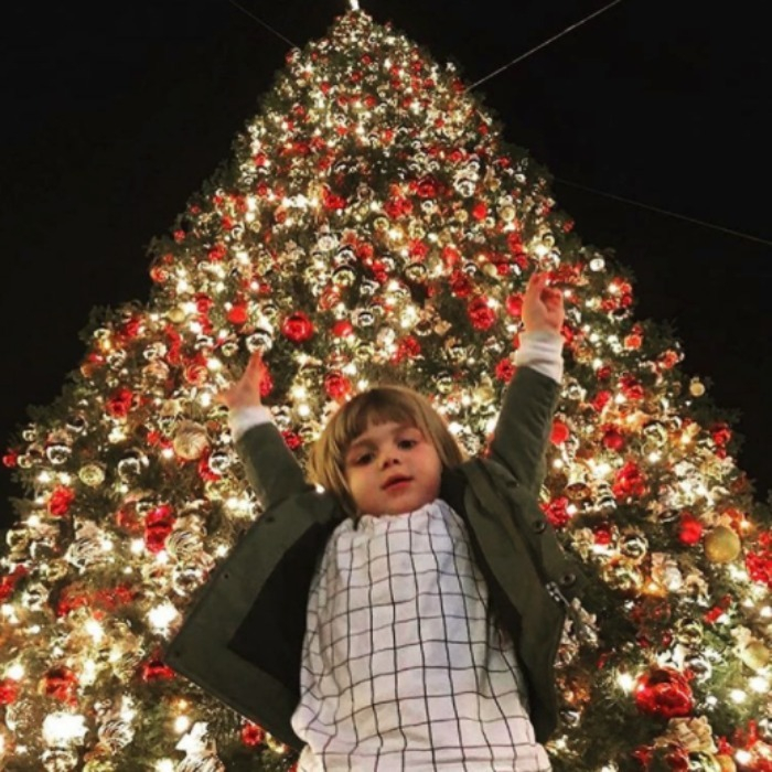 "According to his mom, Jaimie King, James Knight is already ""getting down with the holidays.""