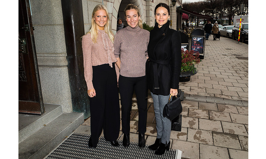 Princess Sofia of Sweden, right, was a guest at a social entrepreneurship and sustainability lunch at the Hotel Diplomat in Stockholm.