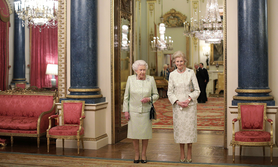 All in the family! Queen Elizabeth II and her cousin Princess Alexandra celebrated the patronages of the Princess at Buckingham Palace. 