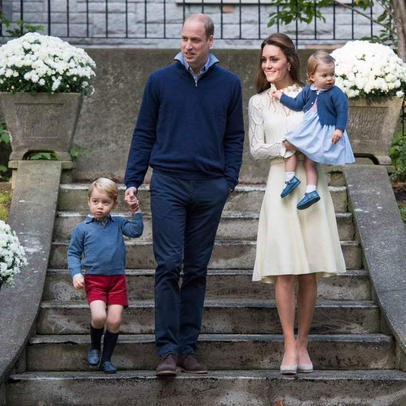 September 2016: The Cambridges were picture perfect as they arrived for a children's party for military families during the Royal Tour of Canada in Victoria, Canada.