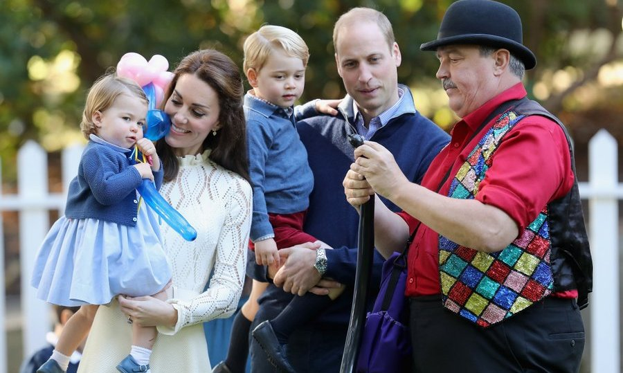 September 2016: The Cambridges enjoyed all the fun as a family during a children's party held during the Royal Tour of Canada.
