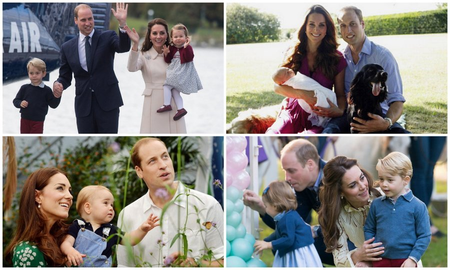 From a young family of three to an even more adorable family of four – my how the Cambridges have grown! Take a look back at Prince William and Kate Middleton's sweet family portraits with their kids Prince George and Princess Charlotte. 