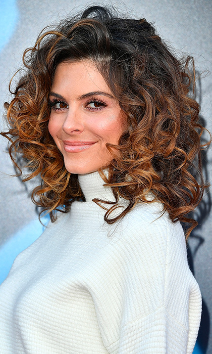 Maria Menounos pumped up the volume with immaculate ringlets at the premiere of 'Sing' in Los Angeles. 