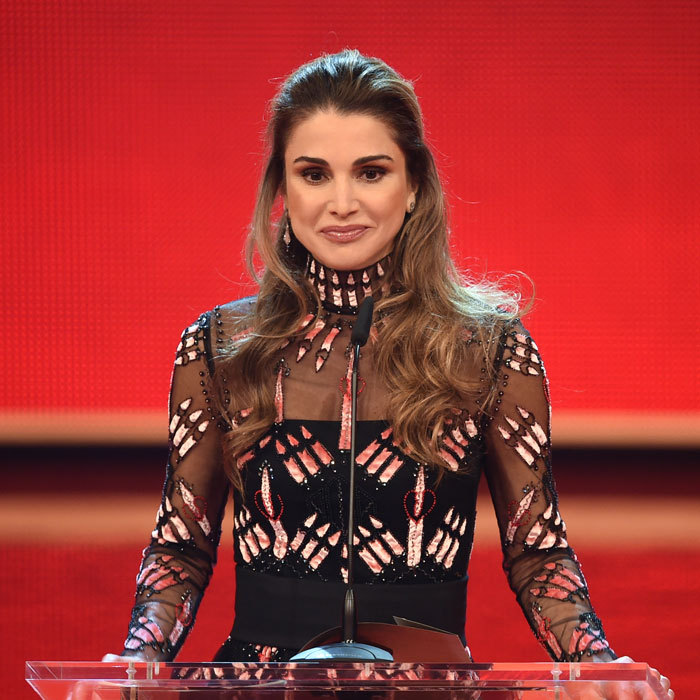 "Queen Rania of Jordan spoke during the ""A Heart for Children's Annual Gala"" in Berlin. Sharing a photo from the charity event, she said, ""Humbled to receive the Heart for Children's Golden Heart Award in Berlin. Grateful to all those who have dedicated their lives to support children and families in need, especially in these turbulent times.""