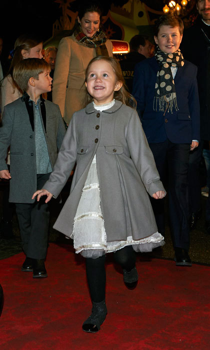 The young Danish Princess exuded happiness, as she made her way into the concert hall with her family.