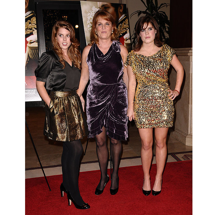 Prince Andrew's ladies went glam for the 2009 premiere of <i>The Young Victoria</i> at the Pacific Theatre in Los Angeles, California.