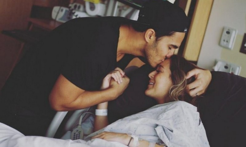 "Carlos and Alexa PenaVega welcomed their son Ocean into the world on December 7. The happy dad took to Instagram with this photo writing, ""A glimpse into the past 48 hours #oceanpenavega.""