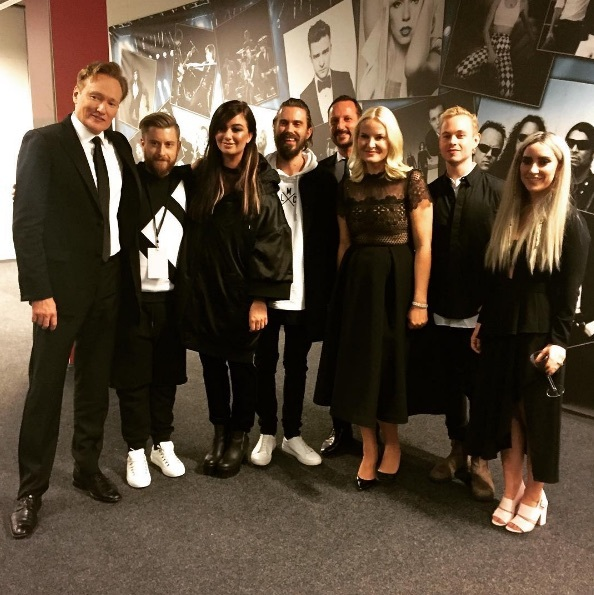 Conan O'Brien was among the guests welcomed to Norway by Crown Prince Haakon and Crown Princess Mette-Marit during the Nobel Peace Prize concert. Inside Telenor Arena in Oslo, the royal family could be seen cracking up at his jokes as he hosted the lavish affair.