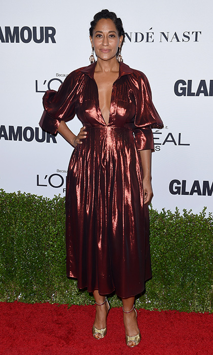 "<I>Black-ish</I> star <a href=""http://us.hellomagazine.com/tags/1/tracee-ellis-ross/""><strong>Tracee Ellis Ross</strong></a> looked stunning in this ruched copper gown at Glamour Women of the Year 2016 at NeueHouse Hollywood on November 14, 2016.