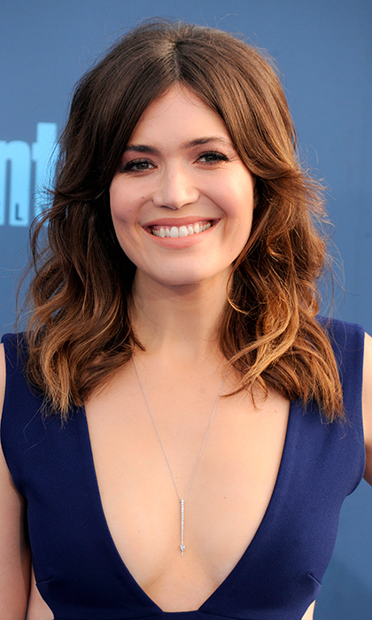 Mandy Moore went for the natural look with full volume in her hair at the 22nd Annual Critics' Choice Awards on December 11 in Santa Monica.