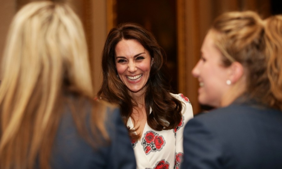 Kate Middleton was her animated self during the Team GB and ParalympicsGB medalists reception at Buckingham Palace in London. 