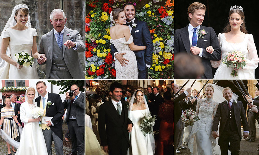 Tiaras and castles and royals, oh my! Get an inside glimpse of these fairytale nuptials as you browse through our photo album of the most beautiful society weddings of 2016. 
