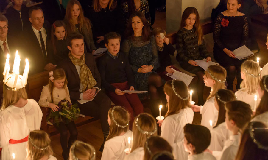 The Danish royal family sat front row at the Royal Danish Academy of Music Childrens Choir Christmas concert at Esajas church. 