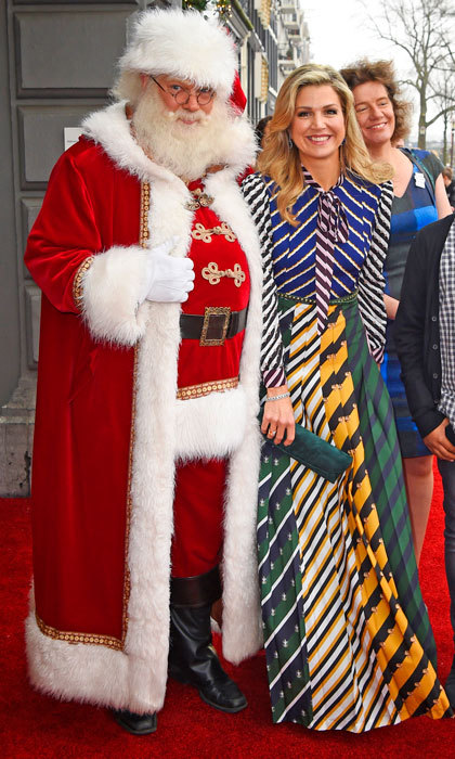 Suffice it to say Queen Maxima of the Netherlands is on the nice list! The Dutch monarch joined jolly old Saint Nicholas at a Christmas music gala in Amsterdam.