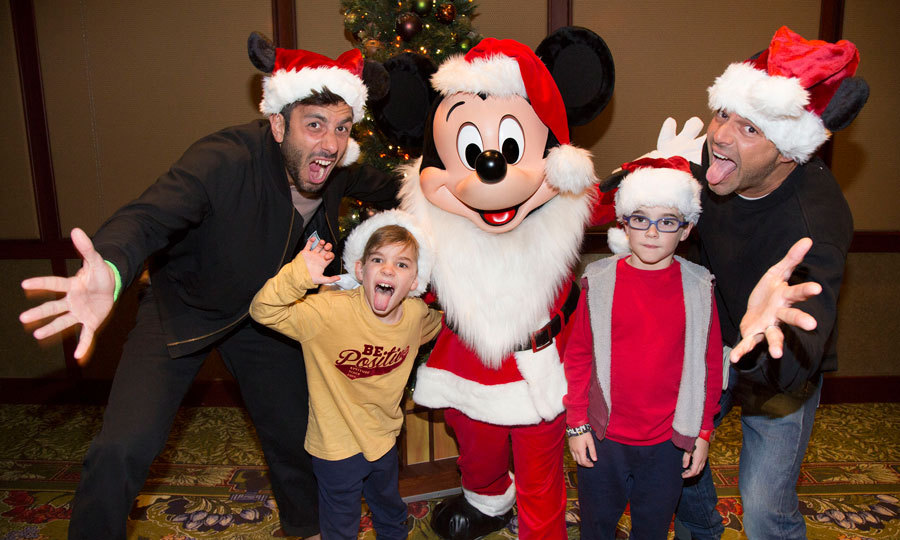 Just plain <i>goofy</i>! Ricky Martin got silly with his  twins Matteo and Valentino, along with fiancé Jwan Yosef during a family visit to Disneyland.