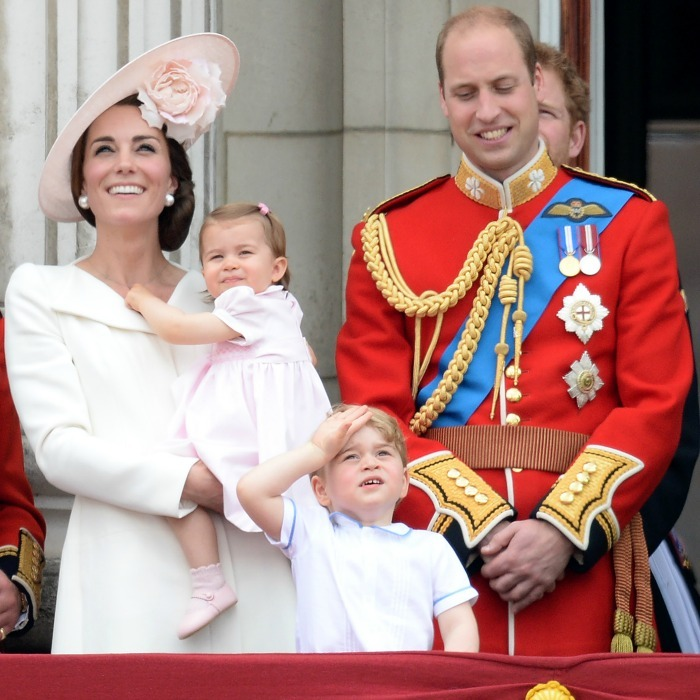 June: A little lady's big debut! Charlotte made her first, and fashionable, public appearance during the Trooping of the Colour ceremony in honor of the Queen's 90th birthday. 