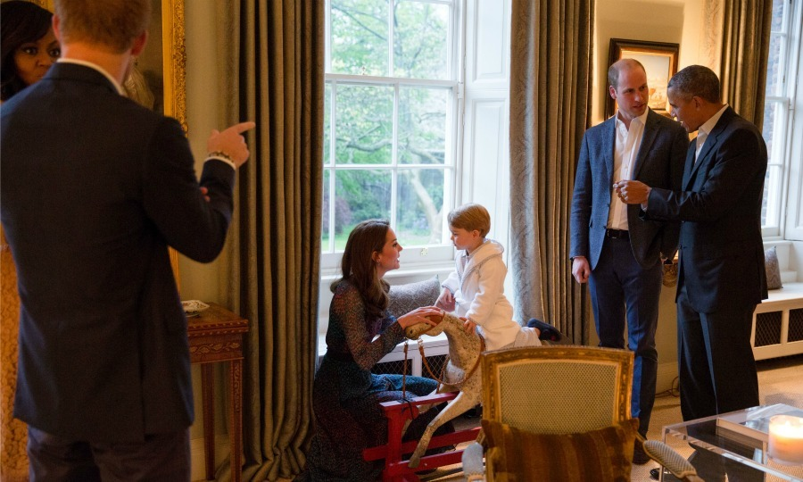 During their meeting, George got on the rocking horse Barack presented to his family in honor of his birth in 2013. The President admitted that he had only one purpose on his trip to London, and he fulfilled it that evening. 