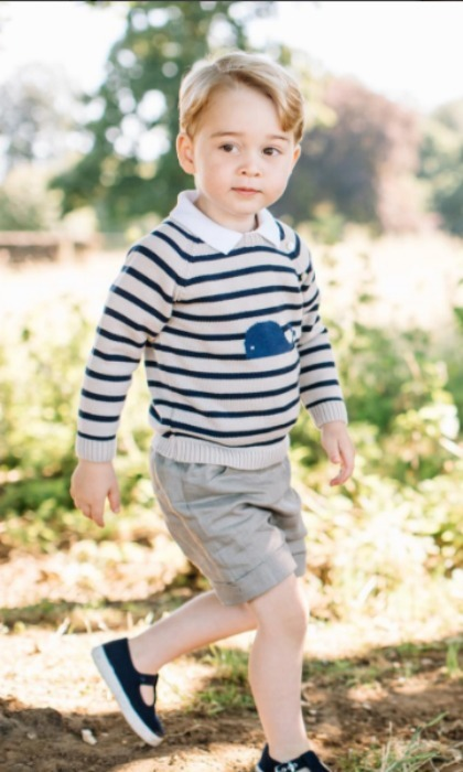 July: Prince George stepped into his third year of life with some adorable birthday portraits done by Matt Porteous at his family home at Anmer Hall, in Norfolk. 