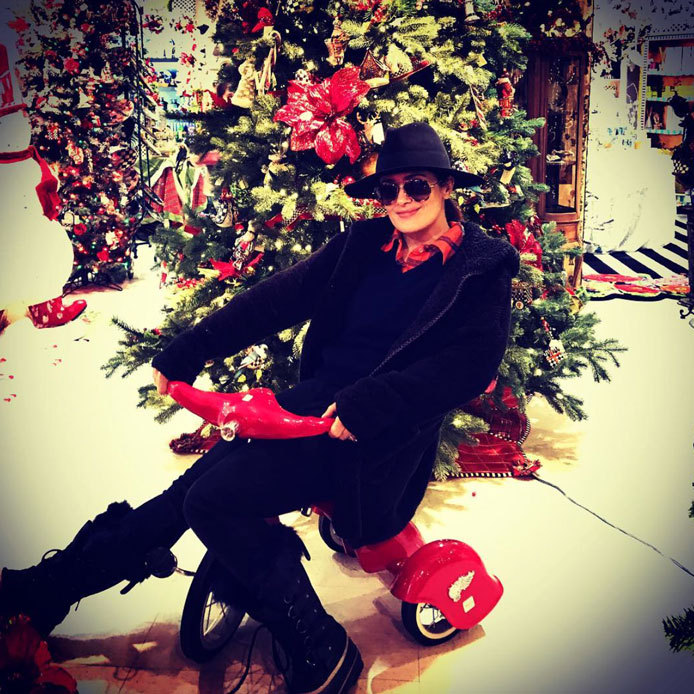 "Christmas has Salma Hayek feeling ""like a child again.""