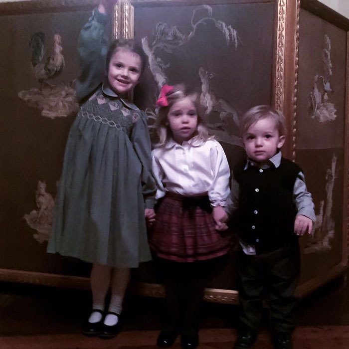 "Nothing like being with your cousins at Christmas time. Princess Madeleine of Sweden shared a cute snap of her kids Princess Leonore and Prince Nicolas posing with her niece Princess Estelle. Attached to the photo, the Swedish royal wrote, ""Cousins at Christmas Lunch at the Palace yesterday!""