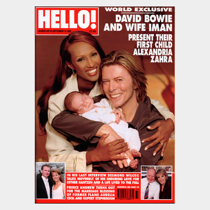 "5. <a href=""http://us.hellomagazine.com/celebrities/2016011129165/david-bowie-tribute-hello-exclusive/""><strong>A look back at the 2000 HELLO! exclusive with David Bowie and Iman as they introduced daughter Alexandria</strong></a>