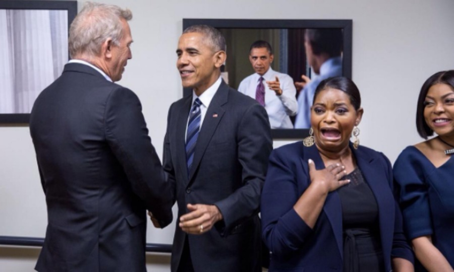 "December 15: Presidential freakout! Octavia Spencer couldn't contain her excitement as she and <i>Hidden Figures</i> co-stars Kevin Costner and Taraji P. Henson were surprised by <a href=""http://us.hellomagazine.com/tags/1/president-obama/""><strong>President Obama</strong></a> during an event honoring the film at the White House.