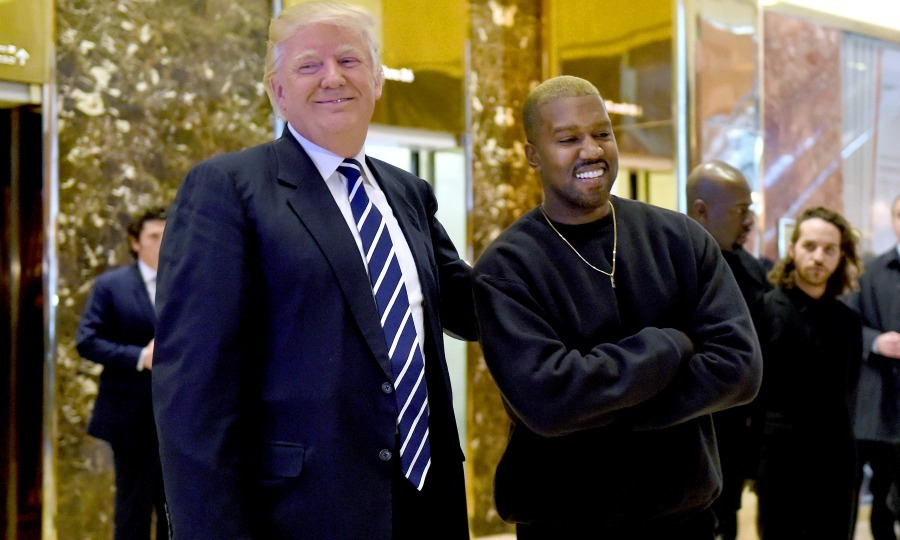 December 13: Mr. West meets Mr. Trump! Kanye West (and his blonde hair) met with President-elect Donald Trump inside of Trump Towers in NYC. 