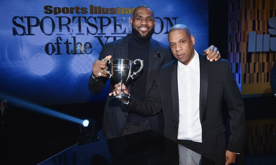 December 12: LeBron James and Jay Z posed onstage with an award during the Sports Illustrated Sportsperson of the Year Ceremony in Brooklyn. 