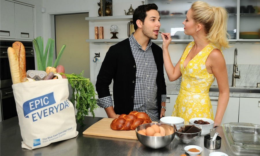 December 12: Newlyweds and <i>Pitch Perfect's</i> Anna Camp and Skylar Astin hosted an Epic Holiday event in Beverly Hills. 