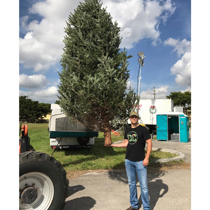 "Optical illusion or super strength? Either way <i>Dawn of Justice</i> actor Henry Cavill got a super tree. The Superman star shared a photo of his freshly picked fir on social media. Attached to the post, Henry wrote: ""Is this really the biggest tree you've got? #ChristmasSpiritActivated #GotElves."" 
