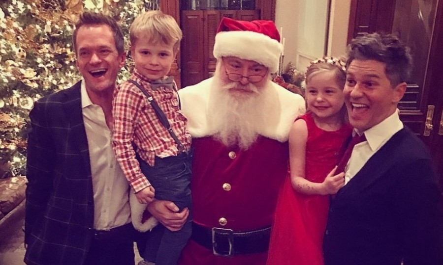 "Neil Patrick Harris and David Burtka took the kids to meet Santa in NYC. Derek Blasberg shared the holiday moment, writing: ""Their faces say 'nice' but Santa's face is giving me 'naughty.'""