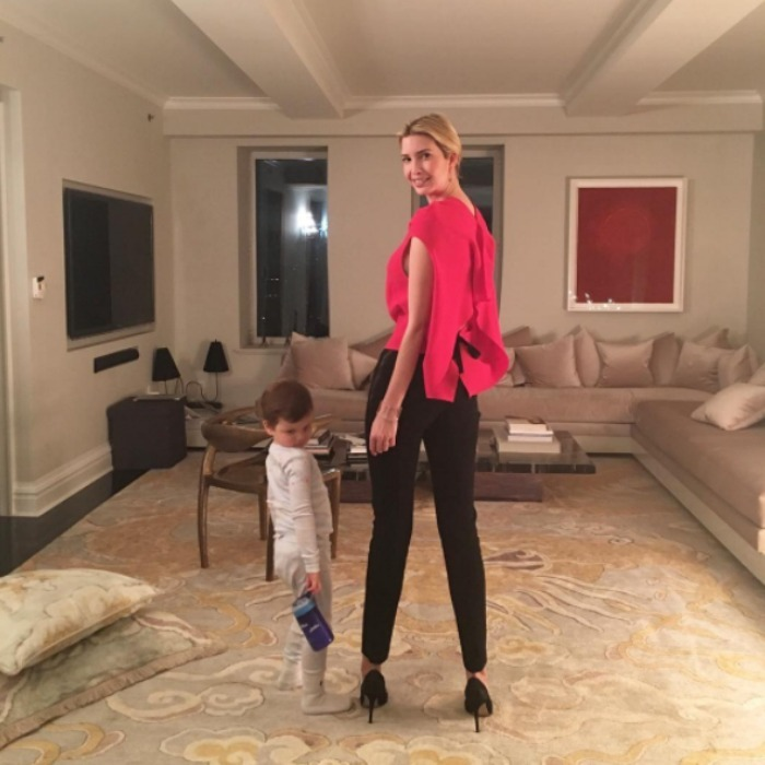 Date night! Ivanka got the seal of approval from her eldest son Joseph before heading out for date night. The little guy posed in his pajamas next to his mom before she headed out on the town. 