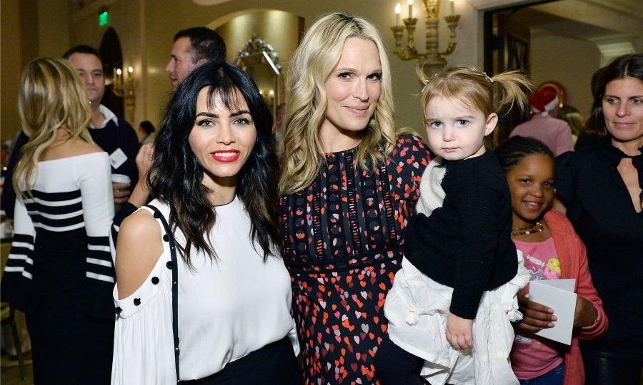 December 18: Jenna Dewan Tatum and Molly Sims were moms on a holiday mission during the Baby2Baby holiday party presented by Old Navy at Montage in Beverly Hills. 