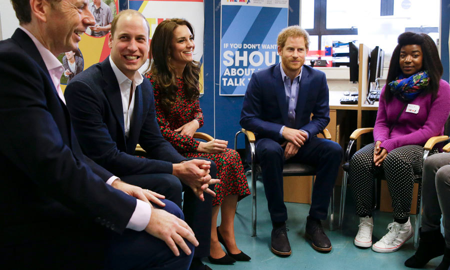 The British royals smiled as they took part in group sessions to hear about the important work being done by Heads Together and The Mix. 