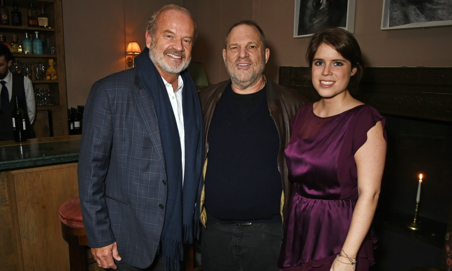 Princess Eugenie met Harvey Weinstein and Kelsey Grammer during the Weinstein VIP screening of <i>Lion</i> at Soho House in London. 