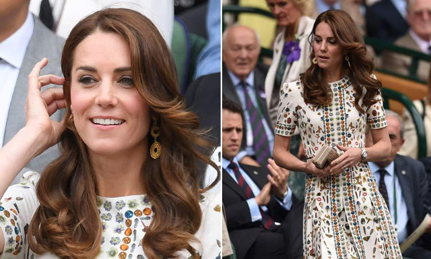 To watch Andy Murray in the 2016 Men's Final, the Duchess of Cambridge opted for a floral and butterfly patterned Alexander McQueen shift dress. The creation is part of the Alexander McQueen Obsession collection and retailed for $3,800. 