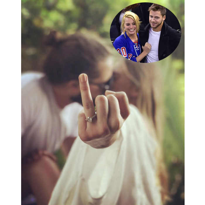 "After reports that Margot Robbie married her longtime boyfriend Tom Ackerley in Byron Bay, Australia, the <i>Suicide Squad</i> actress posted a telling photo on her Instagram account. The blonde beauty shared a picture of herself kissing her man, while showing off a dazzling pear-shaped ring. While the couple never announced their engagement, the UK's The Telegraph reported that the Australian actress was given away at her December 2016 wedding by her mother and had her three siblings in attendance. Prior to the nuptials, Margot was spotted arriving to the Gold Coast airport wearing a shirt that had the phrase ""Say 'I Do' Down Under"" printed on it. The newlyweds first met in 2013 on the set of <i>Suite Francaise</i>.