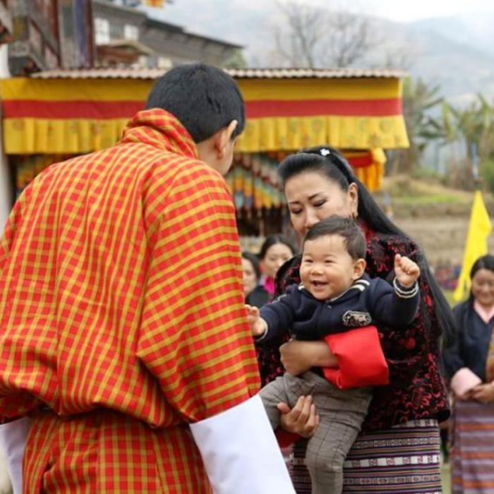 His Royal Highness Gyalsey Jigme Namgyel smiled in the arms of his grandmother, Her Majesty Gyalyum Tshering Yangdon. The royal tot visited his grandmother's ancestral paternal home in Tangsibji.