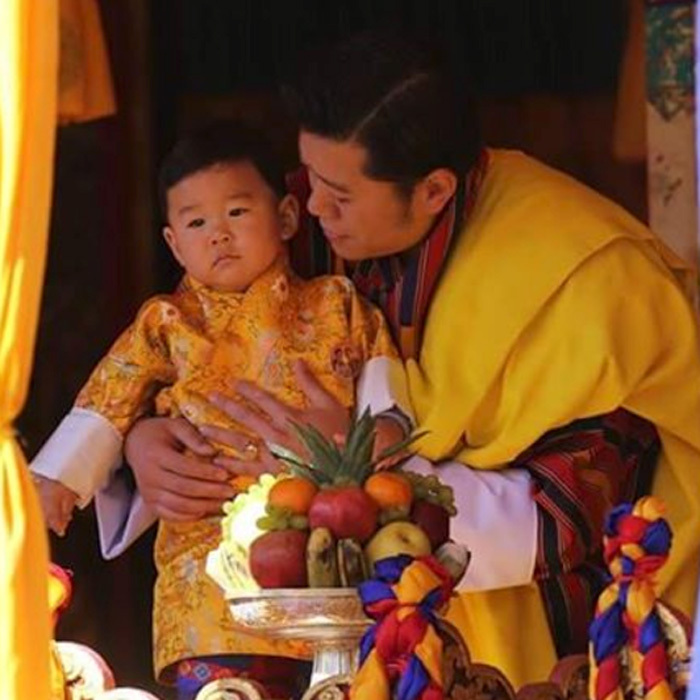 His Royal Highness the Gyalsey joined his father at the 109th National Day celebrations in Trongsa.