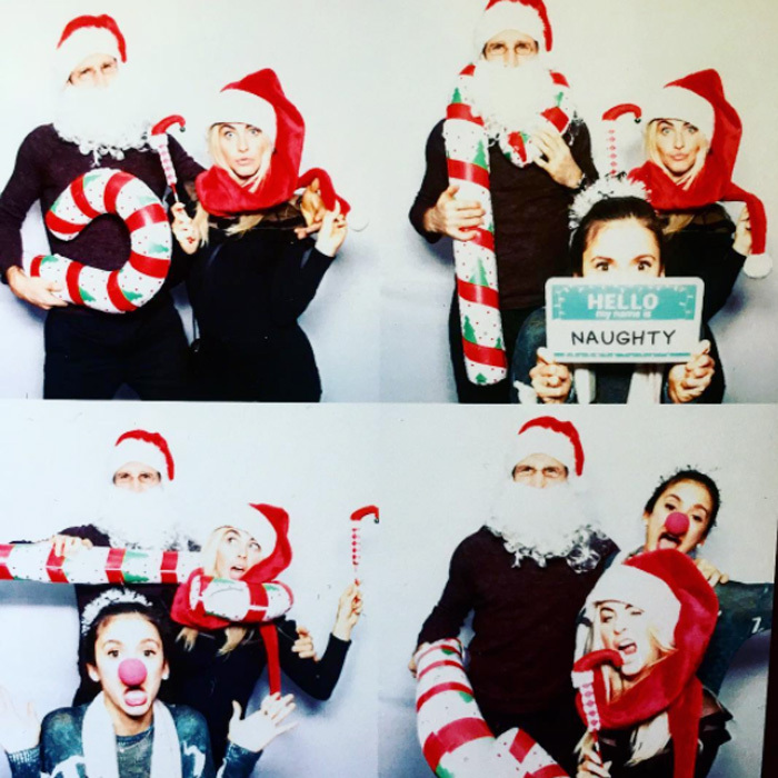 "Julianne Hough got silly with her fiancé Brooks Laich and best friend Nina Dobrev at a holiday celebration. Nina shared a collage of photos posing alongside the couple, which she captioned, ""Mr+Mrs Klaus and their Naughty Little Helper.""
