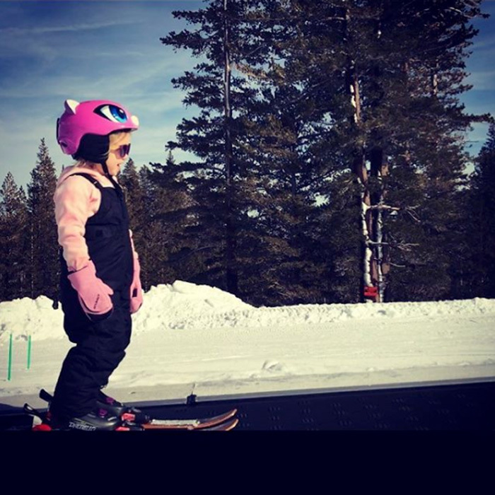 "Jeremy Renner's daughter might only be three-years-old, but she's already shredding ice. The <i>Avengers</i> actor posted a shot of his little girl Ava skiing in Nevada, writing, ""Another amazing shared experience together today. #firsttimer #studskier #shredder #mtrose #rosebuds.""