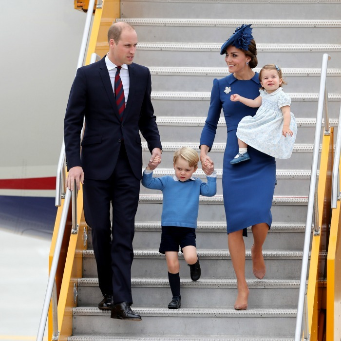 September: Touchdown Canada! Prince George and Charlotte made their royal arrival via 443 Maritime Helicopter Squadron airfield in Victoria, British Columbia with their parents Prince William and Kate Middleton, embarking on their first royal tour as a family of four. 