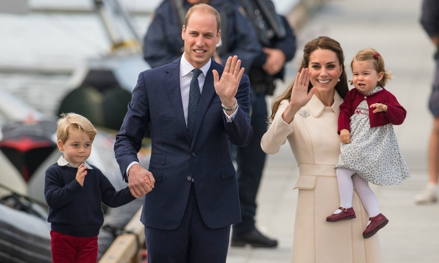 George, William, Kate an Charlotte all waved goodbye and headed back to England. 