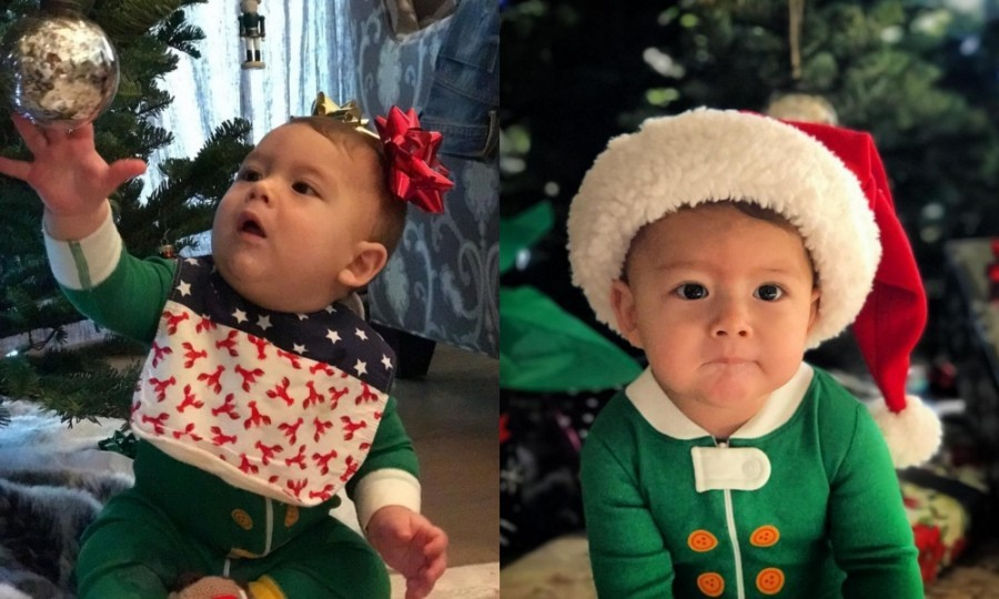 Boomer's first Christmas! On Christmas day, Michael Phelps and his wife Nicole both took to Instagram to share cute photos of their son celebrating. Dressed as an elf, the 7-month-old seemed to have a blast under the tree.