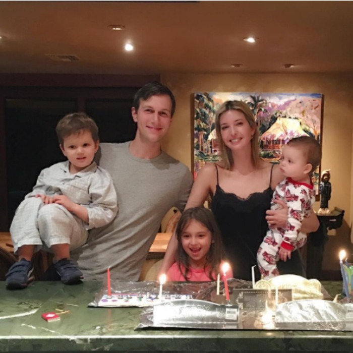 Ivanka Trump, Jared Kushner and their children, Arabella, Joseph and Theodore got a double dose of the holiday as they wrapped Christmas and continued with their traditional Hanukkah celebrations. 