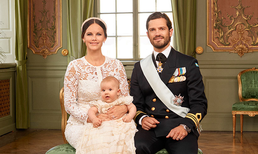 Princess Sofia's firstborn son, Prince Alexander of Sweden was baptized in September, at Drottningholm Palace Church and posed for an adorable set of photos marking the occasion. The adorable young royal, who was born on April 19, wore the same cream christening gown as his dad, Prince Carl Philip.