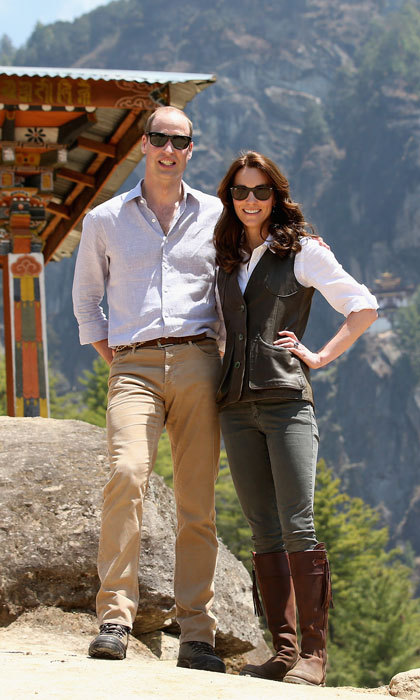 "The Prince and his wife embarked on a six-hour trek in Bhutan to the Tiger's nest monastery. The Duchess joked that it was ""a great way to burn off the curry.""